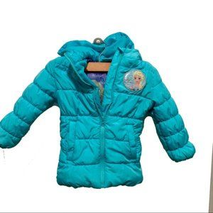 Disney Elsa Frozen Girls Winter Coat